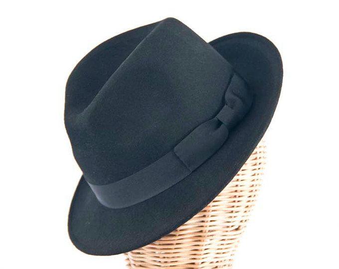 Chapeau Fedora en feutre noir Blues Brothers hommes