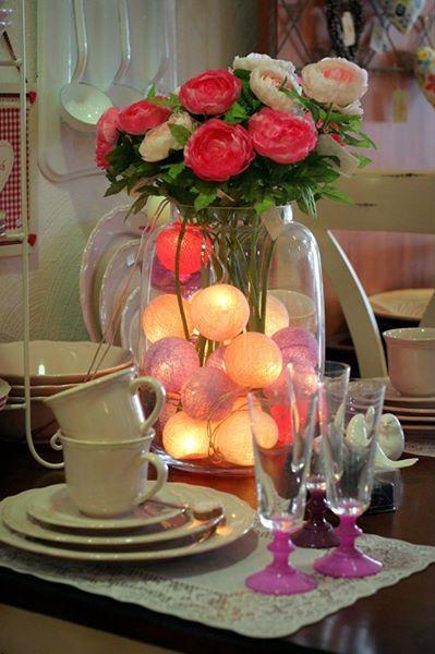 Med #ljusslingor från #Cottonballights #dekorerar du fint till #fest och #bröllop.