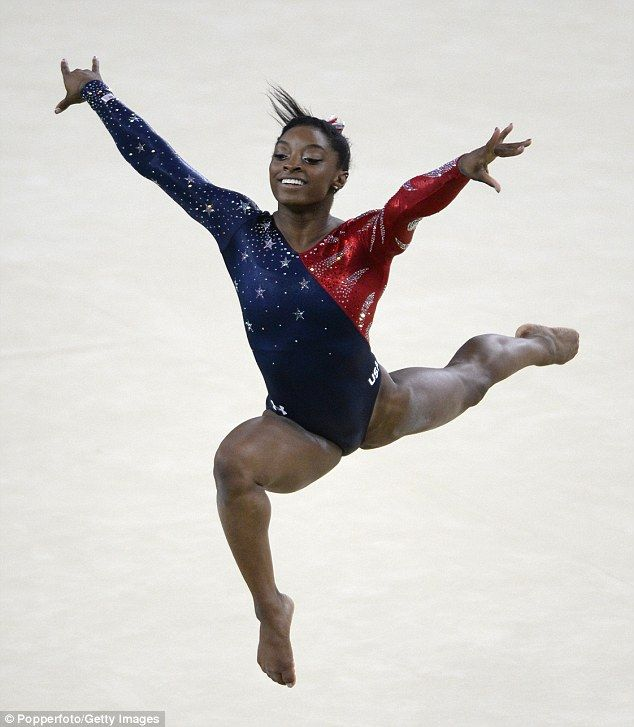 Taking the leap: Each of the leotards have been made custom to the extreme bodies of each of the gymnasts