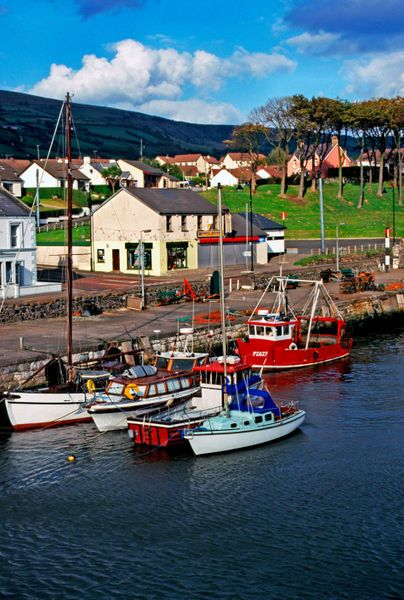 'Carnlough Harbour, Northern Ireland' by Thomas R. Fletcher