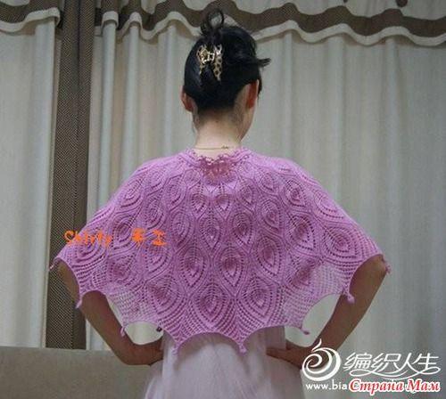 Розовый свитер и шаль листьями - Вязание - Страна Мам