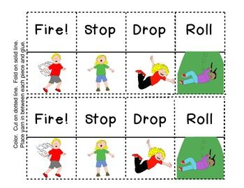 stop drop and roll necklacefire safety craft