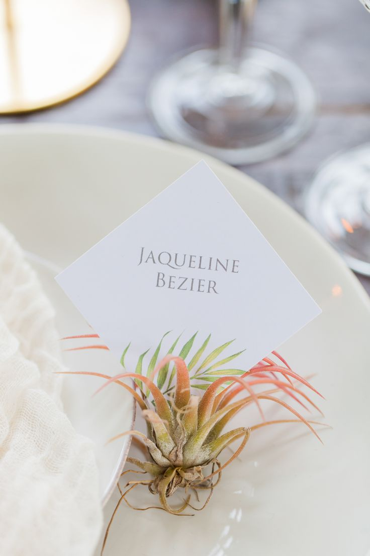 silver heart wedding place card holders%0A Modern Palm   Gold Wedding Inspiration at the Holland Park Orangery
