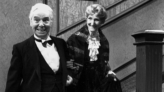 """One of the Danish New Year's Eve traditions: watching the old British comedy sketch """"Dinner for One"""""""