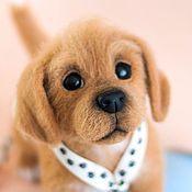 Купить английский бульдог - собака, английский бульдог, войлочная игрушка, авторская игрушка, натуральная шерсть