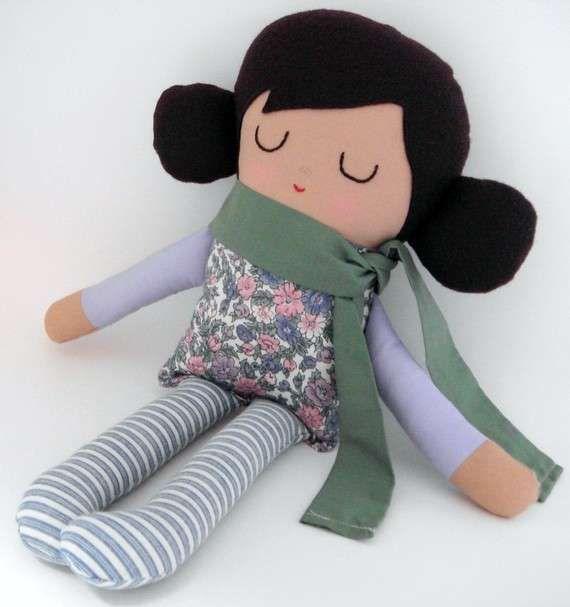 Bambole fai da te per bambini - Bambola con sciarpa