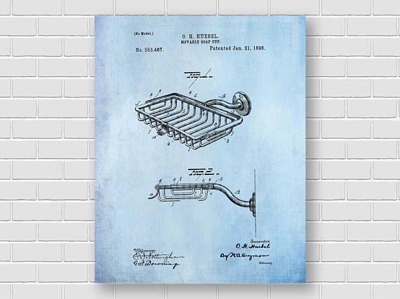 Soap Holder patent Vintage patent print Soap cup Print