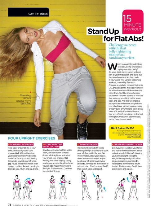 standing ab workout: Abs Workout, Website, Work Outs, From Exercise, Exercise Workout, Flats Abs, Stands Abs, Weights Loss, Woman Health
