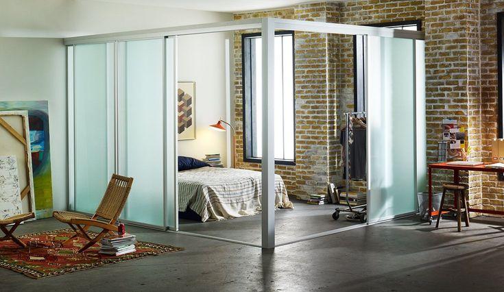 Create a room within a room with the Sliding Door Company! #designinspo #slidingdoors #interiordesign #roomdivders