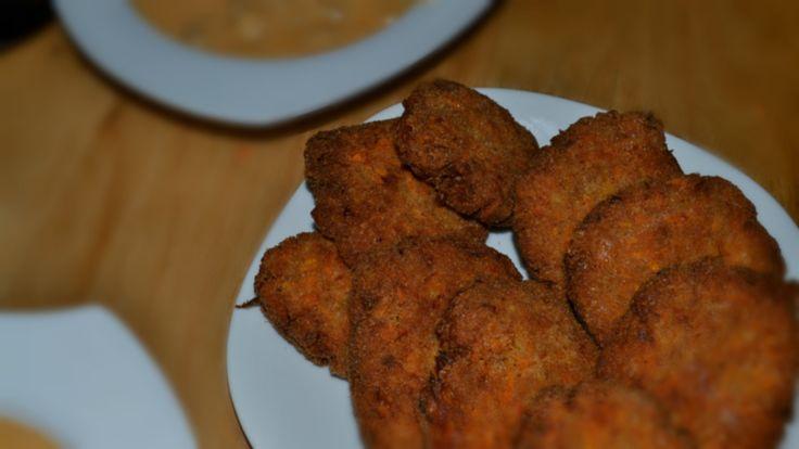 Ropogós répafasírt - Crunchy carrot balls in breadcrumbs