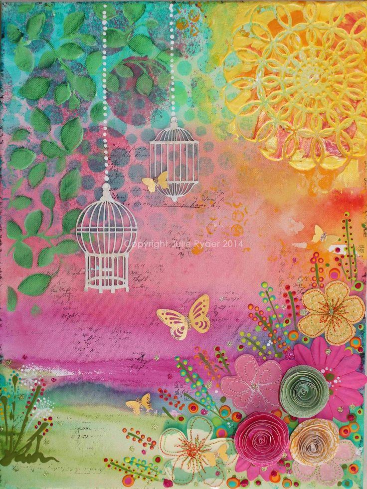 Summer Breezes.....mixed media on canvas.