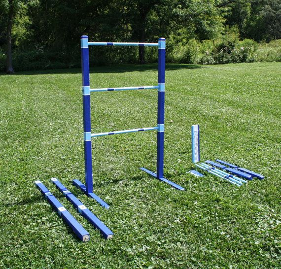 Wooden Painted Ladder Ball Sets  Quick by RozEmazingDesigns