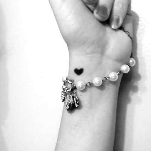 Simple heart on the wrist tattoo  #heart #tattoo #wrist #simple