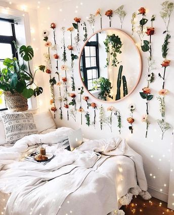 Aesthetic Bedroom Edit Love The Flowers For My Desk Area Cool
