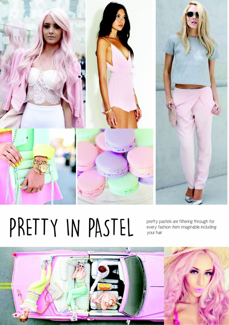 SS15 Women's fashion. Pretty in Pastel