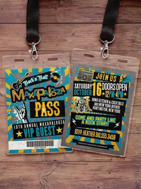 Rock Star VIP PASS backstage pass Vip invitation by LyonsPrints