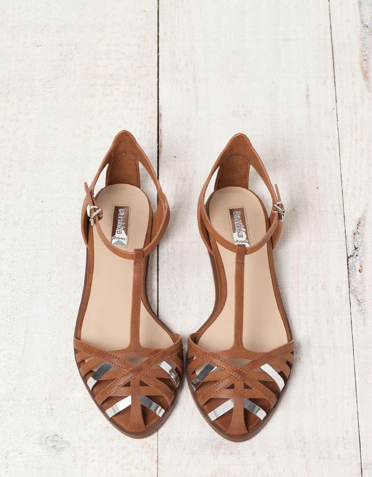Bershka detail strappy sandals - Shoes - Bershka Serbia