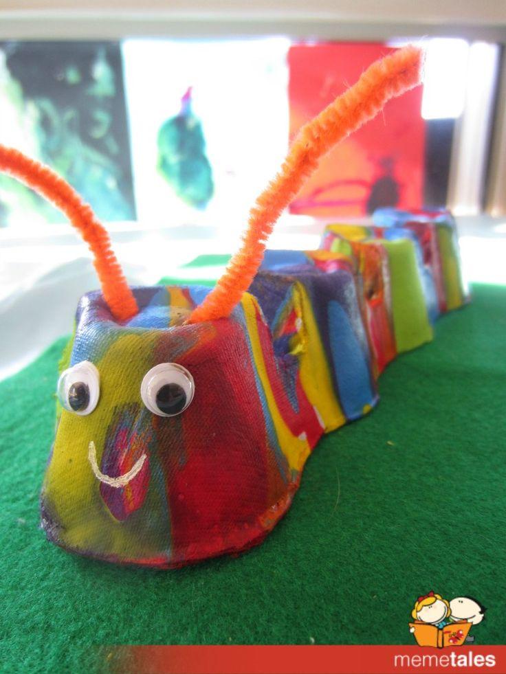 Paint Poured Caterpillar