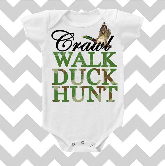 Crawl Walk Duck Hunt Duck Dynasty Custom Color Baby BOY Bodysuit by Simply Chic Baby Boutique for lil Rich!