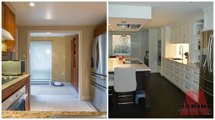 Before and After kitchen renovation  Open concept and custom storage