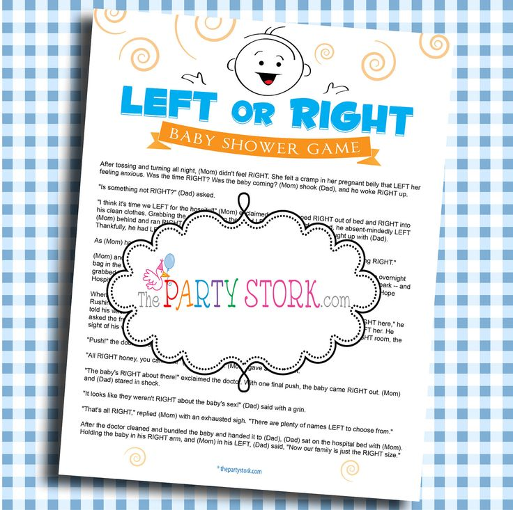 cute game idea left or right baby shower game printable popular