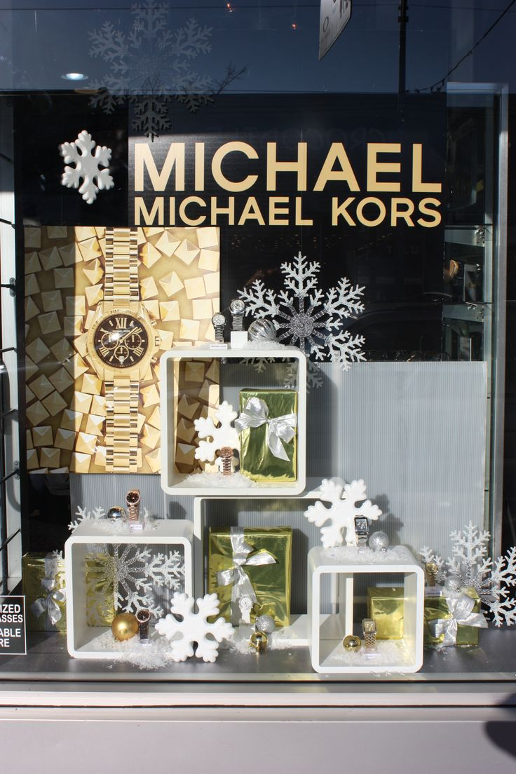 Christmas window painting decorations - Michael Kors Christmas Window Display In Vancouver Bc By A Local Display Company Simple