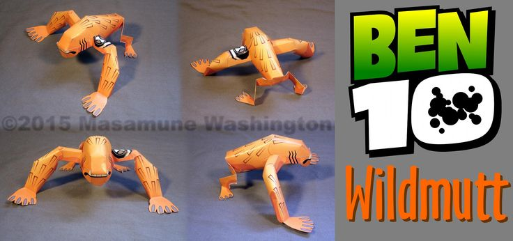 Ben10 Wildmutt cardmodel. 3 parts, 1 page, colorprint. Marketing company on a Cartoon Network promotion in Argentina contacted me. In the end I did not get the job, but I added their proposal to my personal project list anyway.