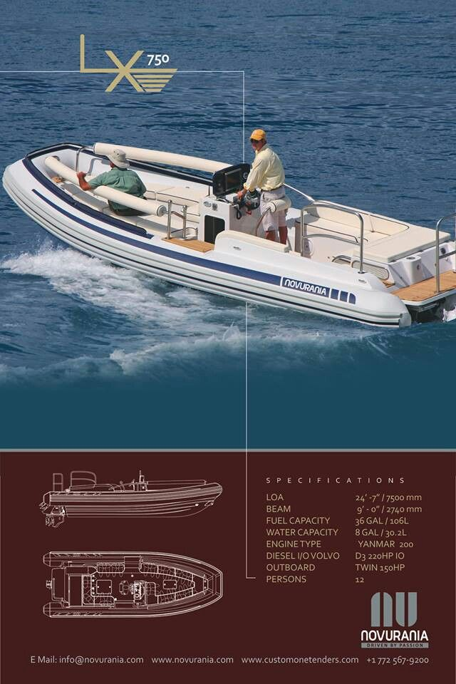 Novurania boats