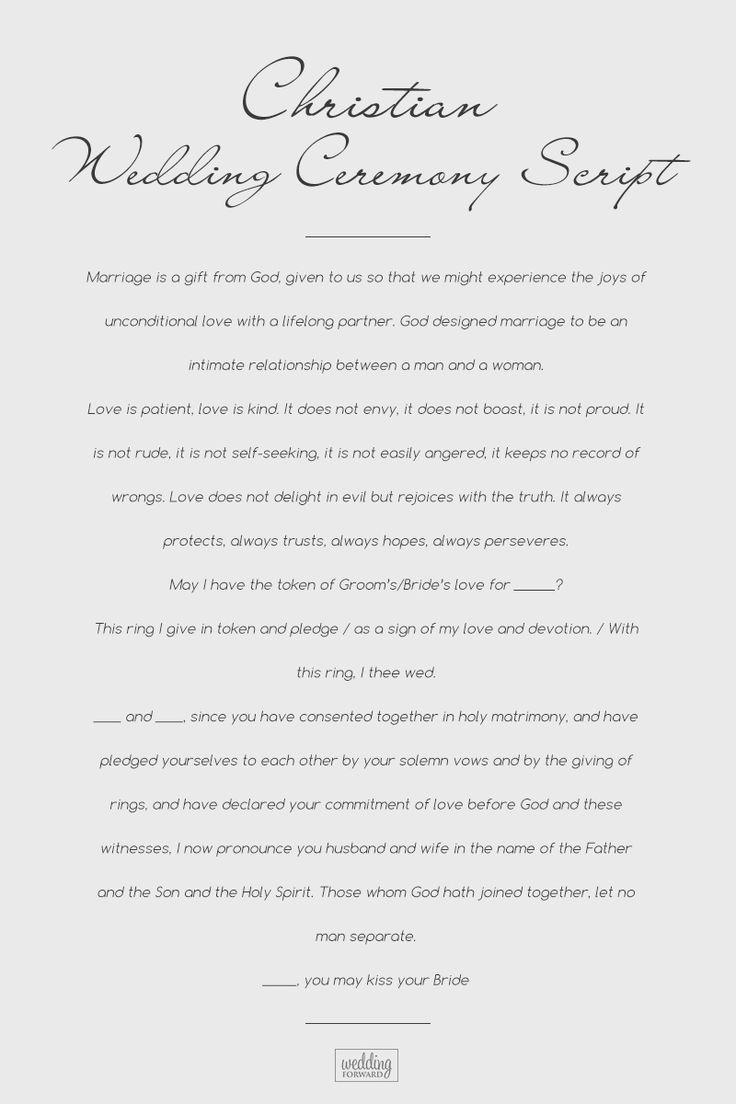Wedding Ceremony Script For Each Wedding Type (List For ...