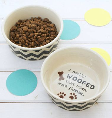 Fun Chevron Dog Bowl from sparksclothing.co.uk! Check out some lovely pet gifts here: http://bit.ly/1U6Qhmn