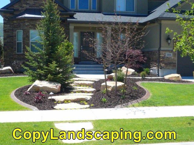 17 best images about front yard landscaping on pinterest for Landscaping rocks burlington ontario