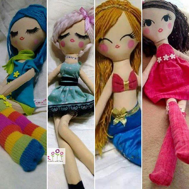 Bellas muñecas personalizadas y exclusivas, todas en material suave, telas y lanas, pintadas a mano. Ideal para jugar y dormir con ellas!!! Y aparte son lavables!!!! Sirena incluye falda zapatos y cola ajustable con Velcro, desde $20.000 !!! #muñeca #niñas #psicologia #suave #apego #ropa #exclusivo #hechoamano #pintadas #cazziadolls #juguetes #muñecasdetela #regaloperfecto