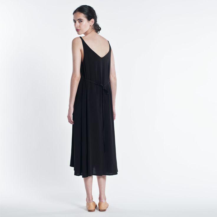 Summer Dress Black Elementy #dress #black #midi #summer #elementy #minimal #classic #polishfashion