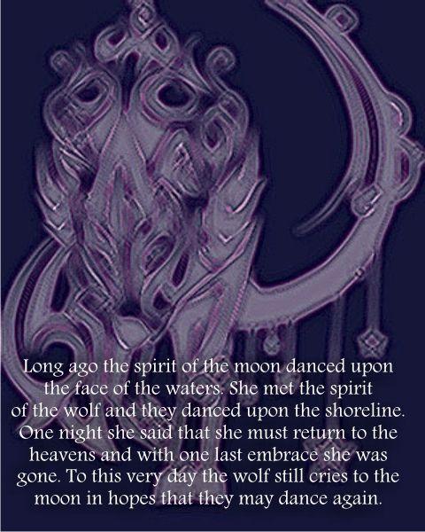wolf_dance, legend , spirit , love , dance , moon, water,