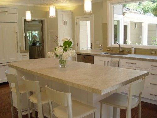 Corian Clam Shell Counters Nice Neutral Color