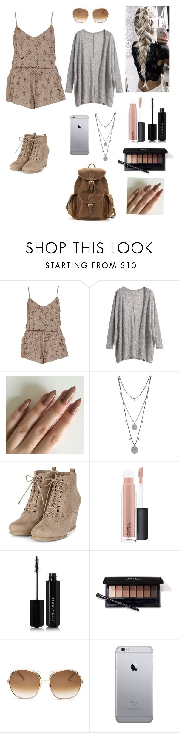 """""""School outfit#34"""" by treasureclarke ❤ liked on Polyvore featuring River Island, Vince Camuto, MAC Cosmetics, Marc Jacobs and Chloé"""