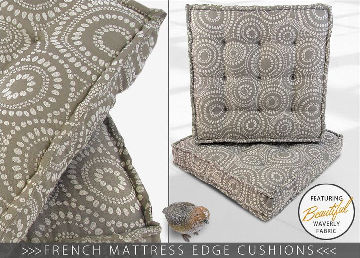 French Mattress Edge Floor Cushions: Waverly World | Sew4Home