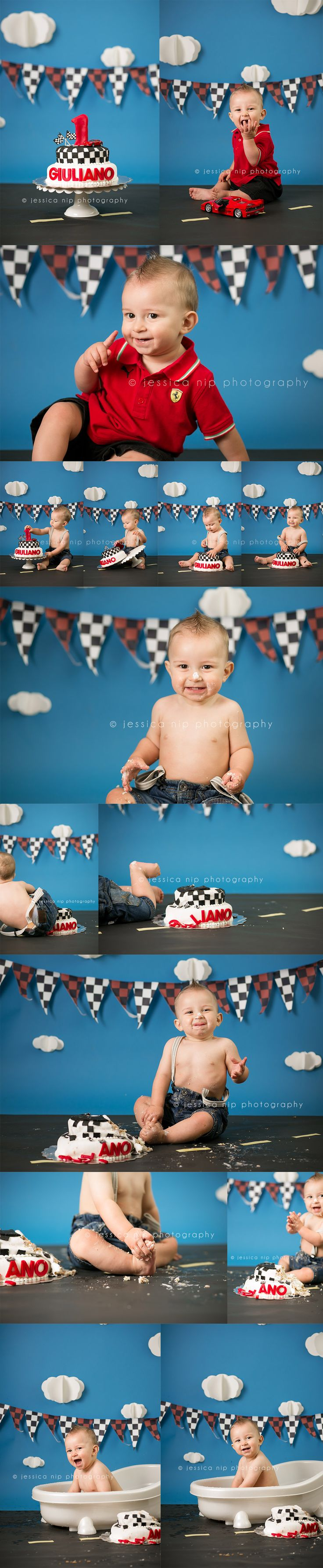 Cars themed birthday pictures | ©2013 Jessica Nip Photography | Cake Smash Photographer in Toronto, Canada