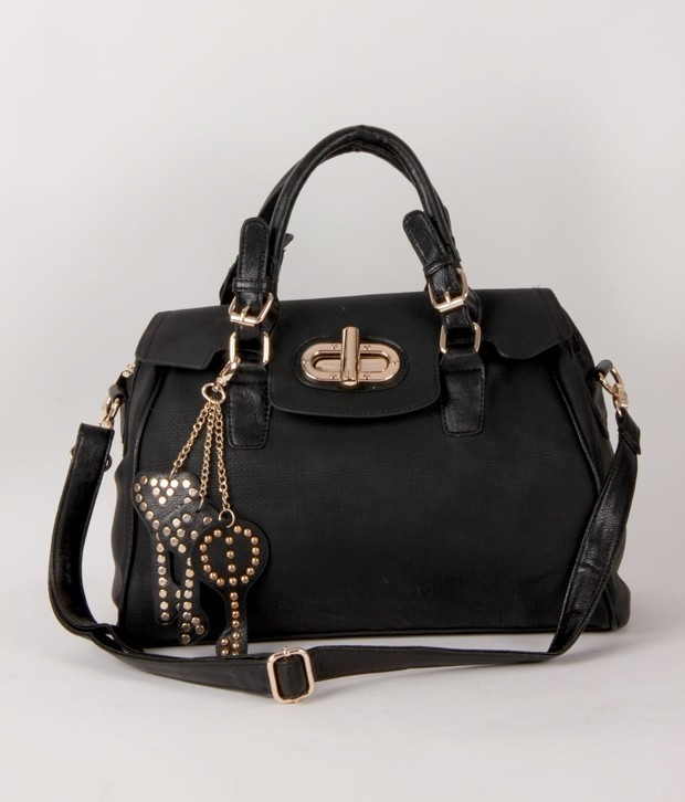 V11 brings 1 Bolzo Stunning Black Key Chain Design Handbag