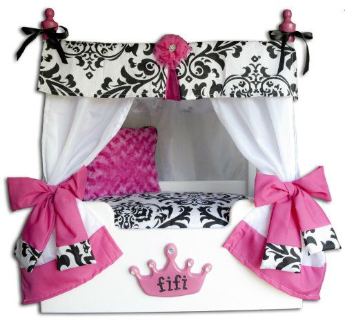 This Pink Bella Zebra Canopy pet bed is great for the p&ered a pet in your  sc 1 st  Pinterest & 12 best Luxury Canopy Dog Beds images on Pinterest | Bed canopies ...