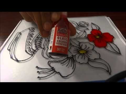 Glass Painting - Step by Step Demonstration - YouTube