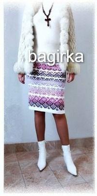 Жаккардовая юбка на осень - Вяжем вместе он-лайн - Страна Мам