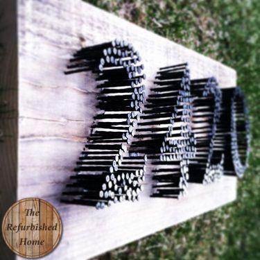 DIY Tutorial- Nail Art Address Sign- TheRefurbishedHome