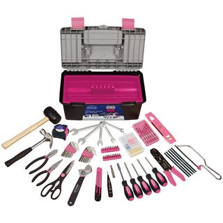 Apollo 170 Piece Tool with Pink Tool Box | Overstock.com Shopping - Top Rated Apollo Tool Sets