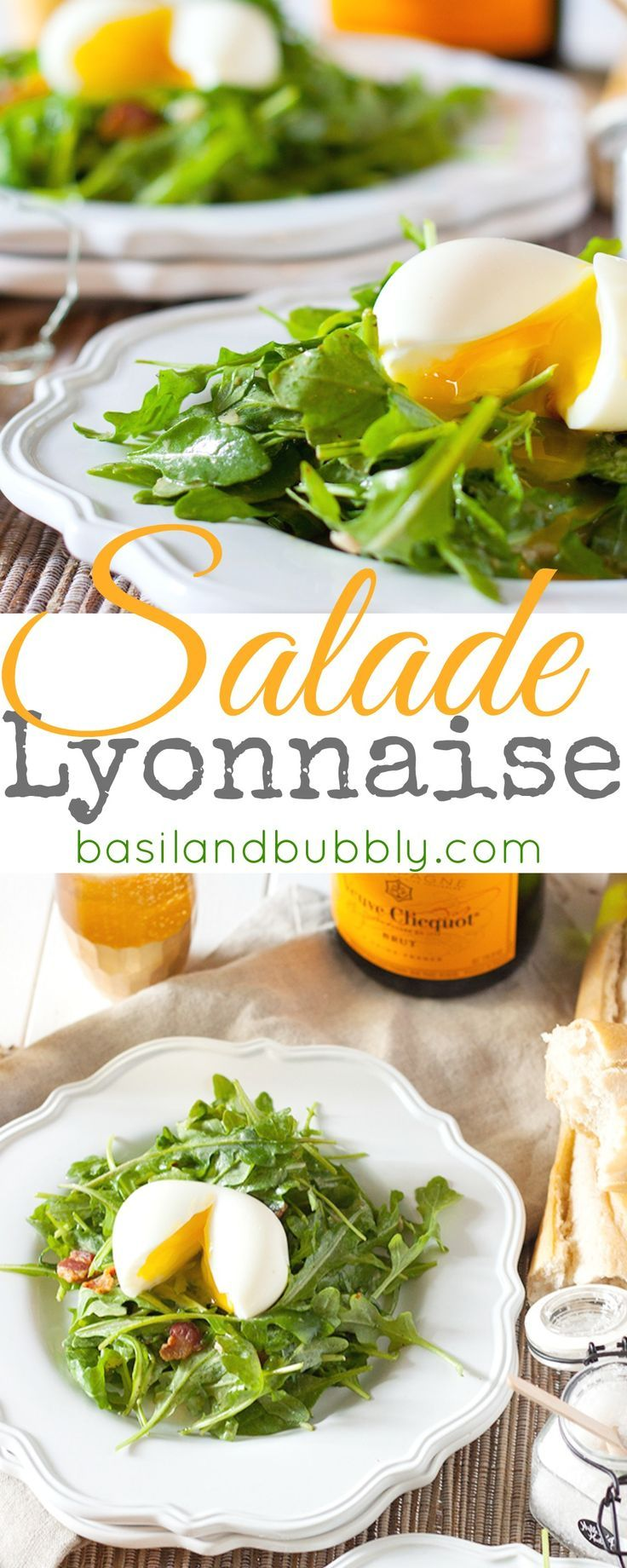 A classic French dish: Salade Lyonnaise.  Post includes recipe for how to make a perfectly soft boiled egg, and a contest valued at $5,000! #worldmarkettribe #ad