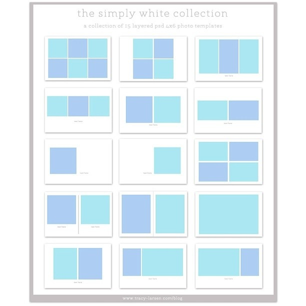 photo collage templates - The simply white collection - $4. just purchased.