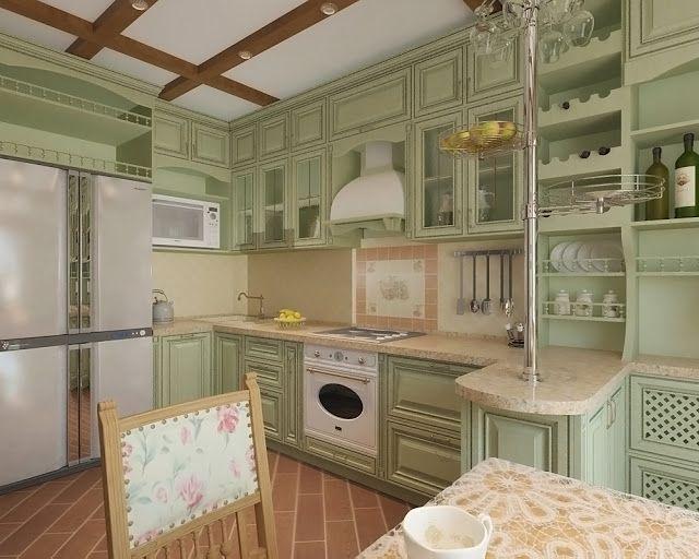 Кухня в стиле прованс.