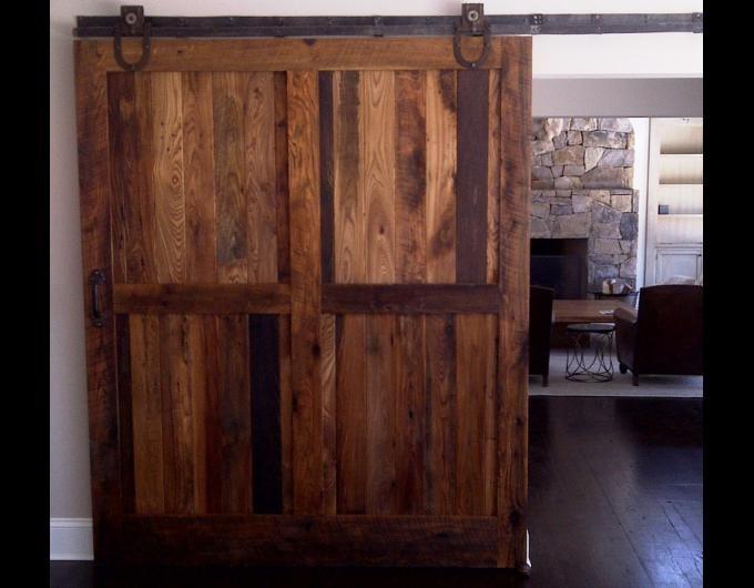 RLP Reclaimed Sliding Track Barn Doors http://www.reclaimedlumberproducts.com/sliding-wood-doors (Office/3rd bedroom needs door.)