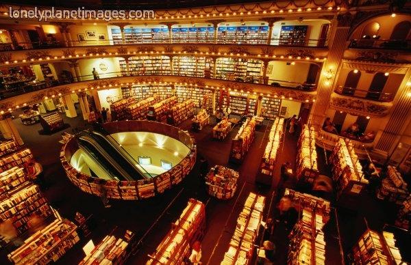 Interior of El Ateneo bookstore, Avenida Santa Fe, Buenos Aires Argentina