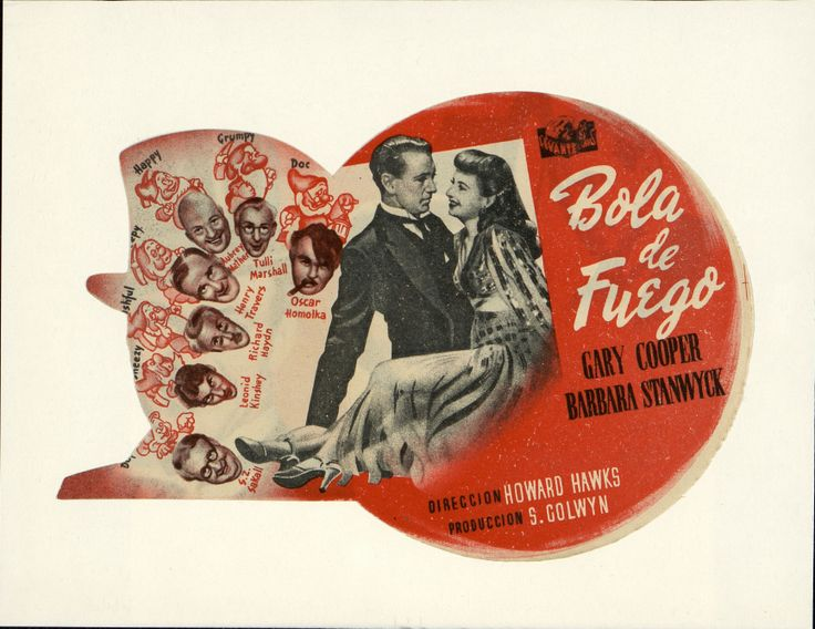 3. Bola de fuego. Dirigida por Howard Hawks. Valencia: Gráficas Valencia, [1941]. #ProgramasdeMano #BbtkULL #Troquelados #DiadelLibro2014
